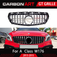 New arrival W176 GT front grille for mercedes w176 A class A180 A200 A260 A45 auto tuning parts 2013 2015