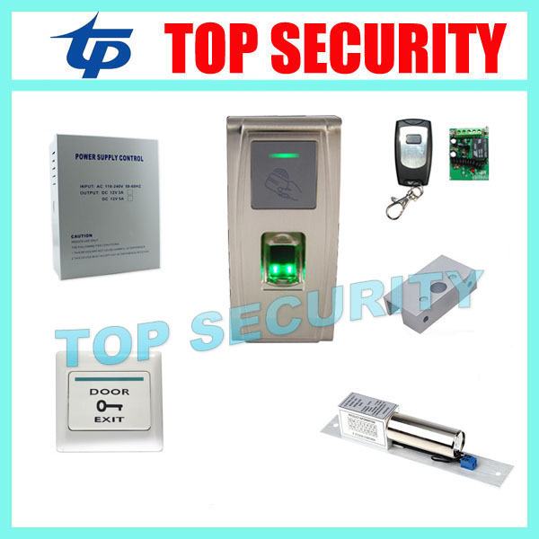 Fingerprint electric door lock access control system with RFID card reader TCP/IP biometric standalone access controller MA300 f807 biometric fingerprint access control fingerprint reader password tcp ip software door access control terminal with 12 month