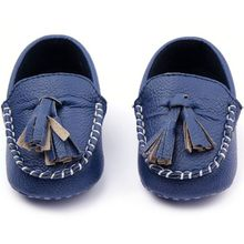 Baby Toddler Girls Boys Loafers Soft Faux Leather Flat Slip-on Crib Shoes(China)