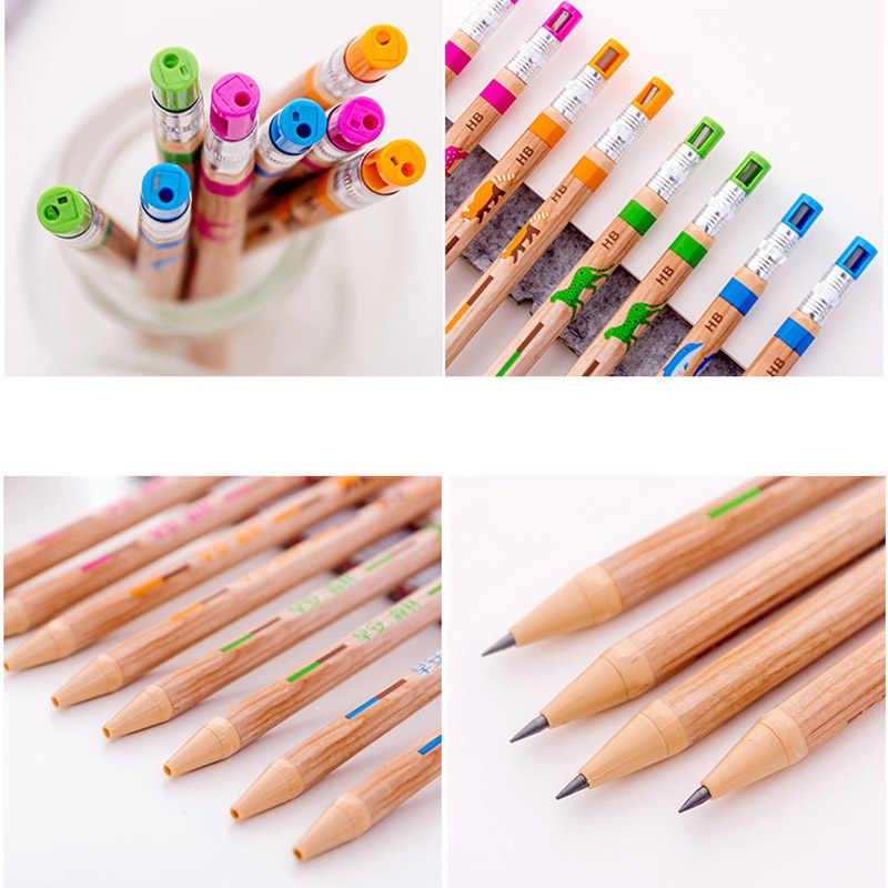 2.0 مللي متر لطيف الحوت أقلام رصاص الميكانيكية الحيوانات قلم رصاص ميكانيكي للأطفال الطلاب الهدايا Kawaii القرطاسية اللوازم المكتبية المدرسية