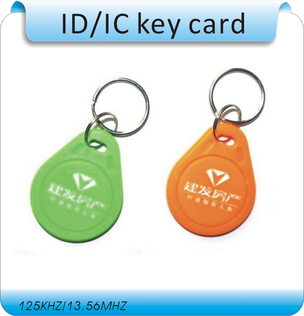 Free shipping 100pcs/Lot include printing logo 125KHZ RFID Tag Proximity ID Token Tag Key Ring /access control card free shipping 1000pcs lot factory price cmyk customized printing pvc combo card die cut key tag with qr barcode