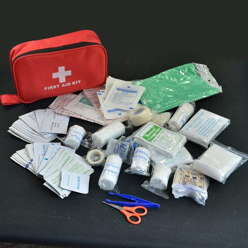 180 pz/pacco Sicuro Viaggio Kit di Pronto Soccorso di Campeggio Trekking Kit di Emergenza Medica Trattamento Pacchetto Set All'aperto Deserto Di Sopravvivenza