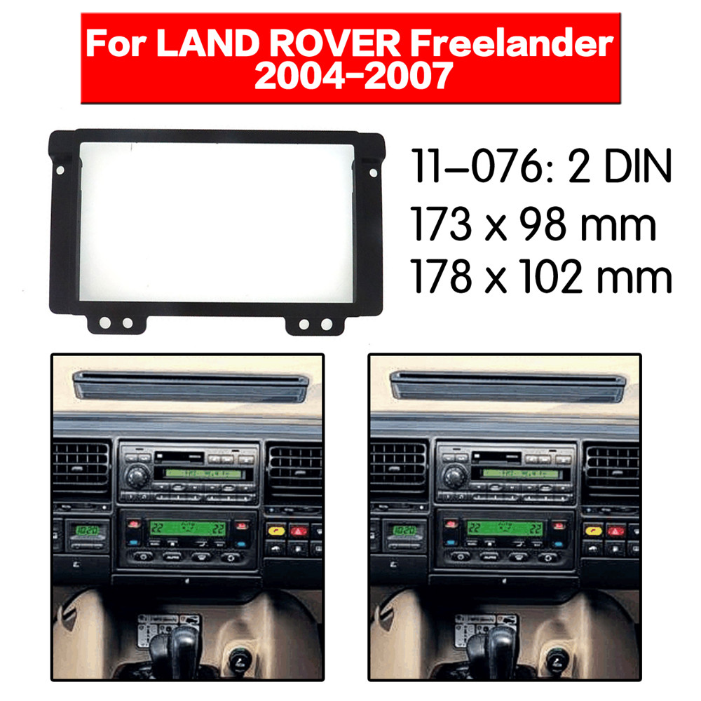 Car Radio Fascia Multimedia Frame Kit For LAND ROVER Freelander 2004-2007 Audio Bezel Facia Panel Trim Dash 2 Din Mount Kit