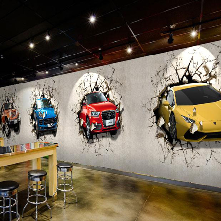 Cars poqiang personalized wallpaper wallpaper auto shop for Car mural wallpaper