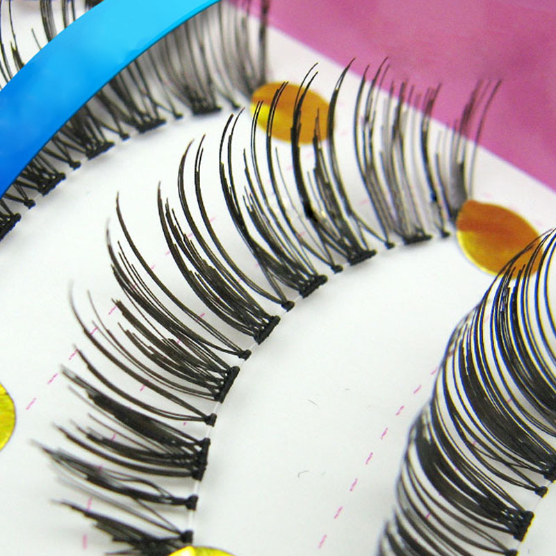 30pair Handcraft Reusable Thick Wispies Natural False Eyelashes With Transparent Stems Individual Eyelashes Extension Lashes