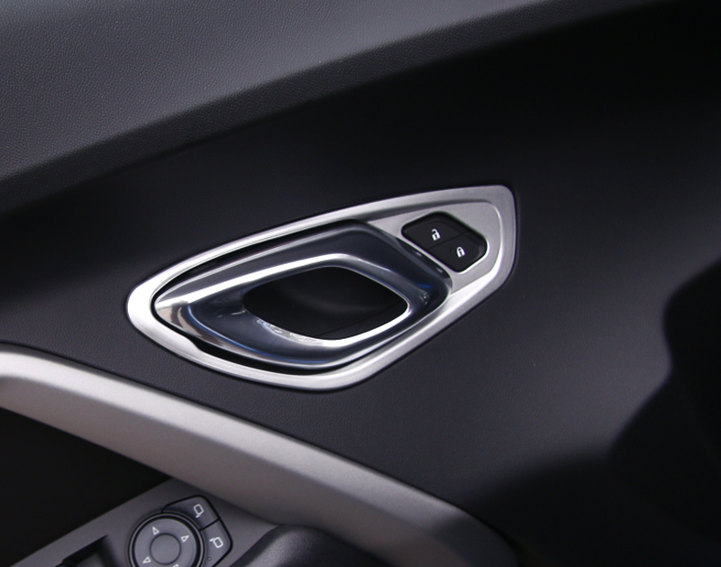 For Chevrolet Camaro 2017 2018 ABS Interior car styling Accessories Inner Door Handle Bowl Decor Cover Trim|Chromium Styling| |  - title=