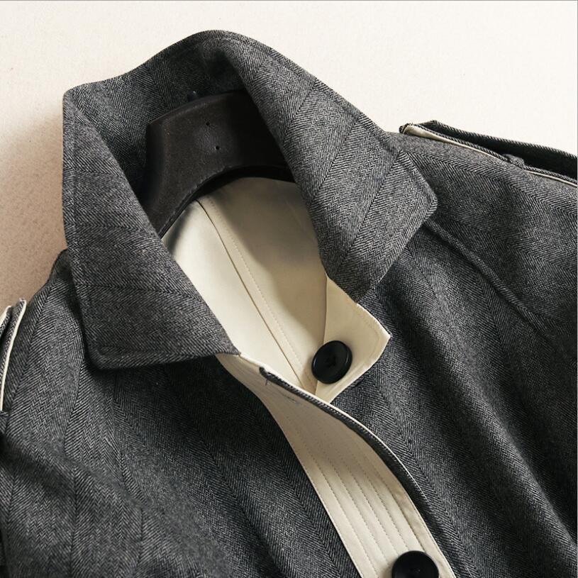 Automne Laine Garder Casual Gris Beige Nouvelle 2018 Robes Femme Manteau Qualité Couleur Hit Mode Longue Hiver Chaud De Au Lâche Dame Haute Grey Aqwv5F