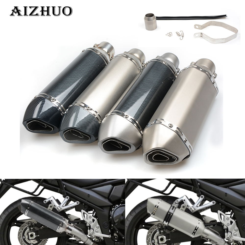 For SUZUKI SV650 GSR GSXR 600 750 1000 K1 K2 K3 K4 K5 K6 K7 K8 K9 Universal Modified Motorcycle Exhaust Pipe Moto Exhaust Pipe motorcycle accessories cnc swingarm sliders spools for suzuki gsxr 600 k4 k6 k8 gsxr 750 gsxr 1000 k5 k7 k9 l11 l13 gsxr1300