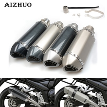 For SUZUKI SV650 GSR GSXR 600 750 1000 K1 K2 K3 K4 K5 K6 K7 K8 K9 Universal Modified Motorcycle Exhaust Pipe Moto Exhaust Pipe 51mm universal motorcycle scooter exhaust pipe muffler escape for suzuki gsxr 600 750 gsx r 2006 2007 2008 2009 k6 k7 k8 k9