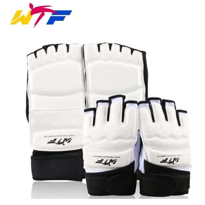 Alta calidad WTF aprobar mano protector protectores de pie niño hombre mujer karate mma kick boxeo muay thai taekwondo manos guardias
