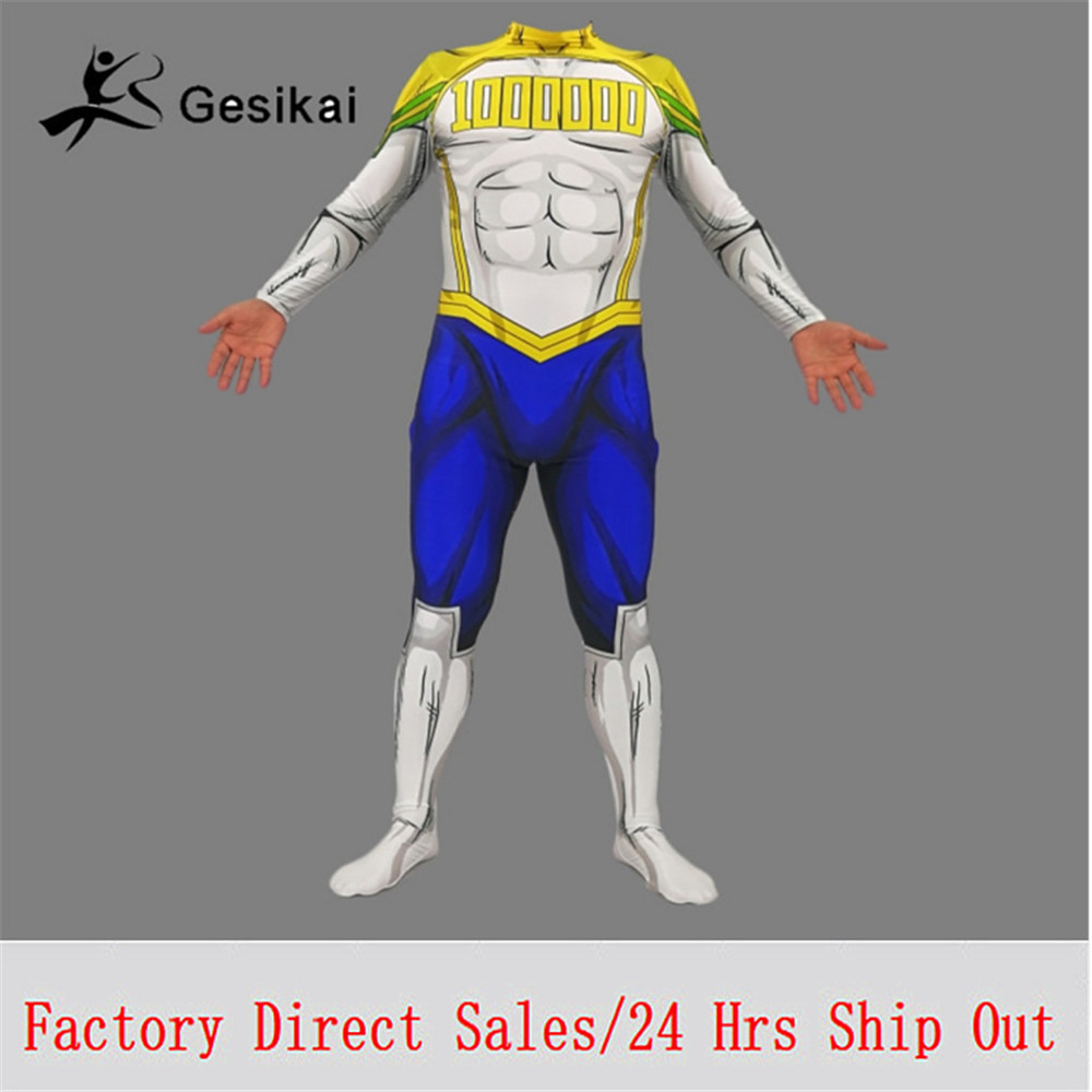 Kids Adults My Hero Academia <font><b>Mirio</b></font> <font><b>Cosplay</b></font> Costumes Spandex Zentai <font><b>Mirio</b></font> Bodysuits Jumpsuits Male Halloween Costumes image
