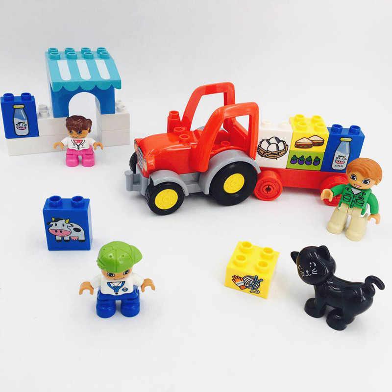 Blok Bangunan Batu Bata DIY Pertama Saya Susu Buah Truk Ukuran Duploe Mainan Aksesoris Bagian Hadiah Natal