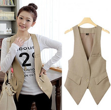 New Spring Fashion Women All-match Vintage Formal OL Slim Vest Female Small Suit Women Coat