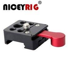 """NICEYRIG Camera Rig Cage 1/4 """"3/8"""" Screw fix 20 21mm NATO zacisk kolejowy/uchwyt na zimne buty do mikrofonu Monitor podstawka lampy błyskowej"""