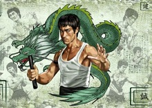Bruce Lee Vintage SILK POSTER Decorative Wall painting 24x36inch