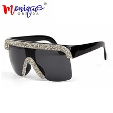 f76e71a270f 2019 Sunglasses men Vintage Cool style Goggle Sunglasses bling rhinestones  sunglasses women oculos de sol feminino uv400