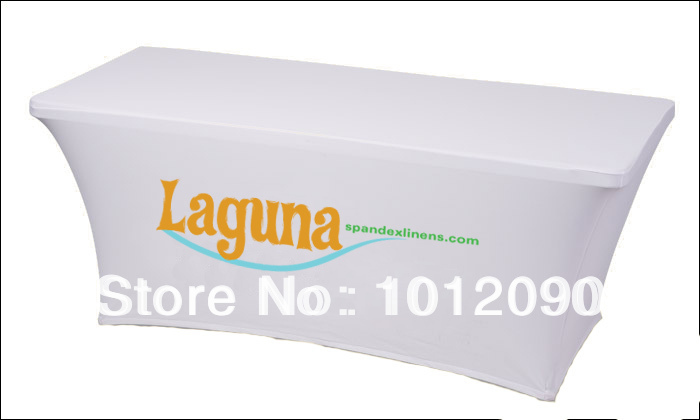 8ft  Spandex table covers  Spandex Logo table cover - Home Textile