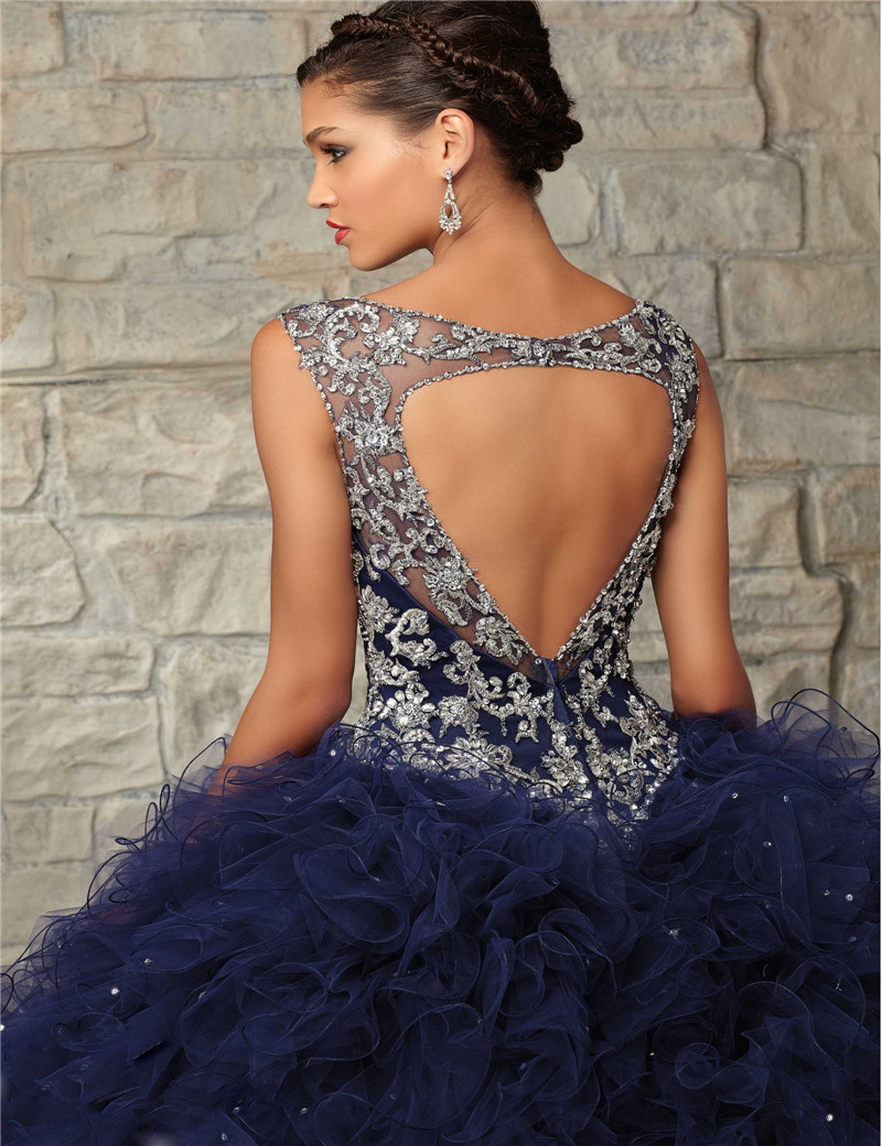c7a273a2d95 V neck Beading Sweet 16 Quinceanera Dresses Back Hollow Custom Made Big  Girls Birthday Party Ball Gowns -in Quinceanera Dresses from Weddings    Events on ...