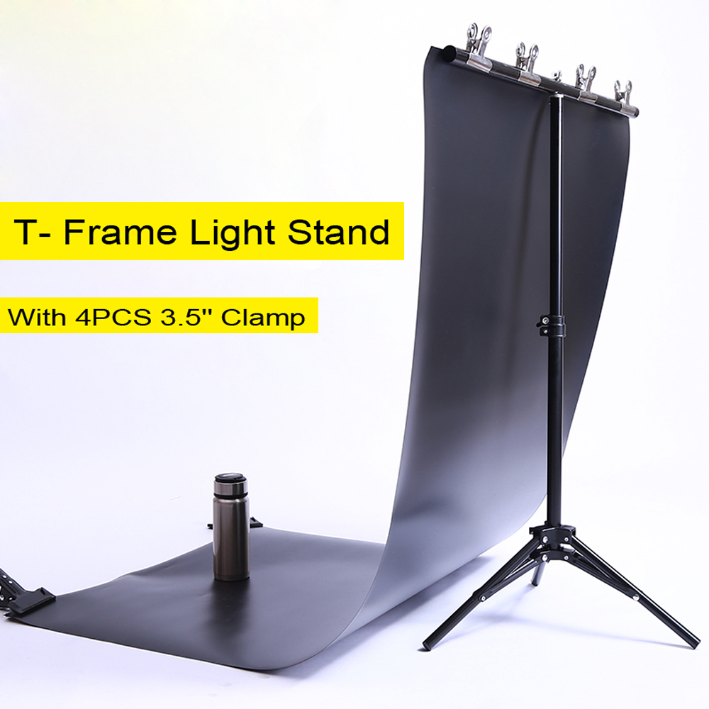 Studio frame board bracket PVC gradient paper background cloth frame host photo shoot equipment props T Frame Light Stand