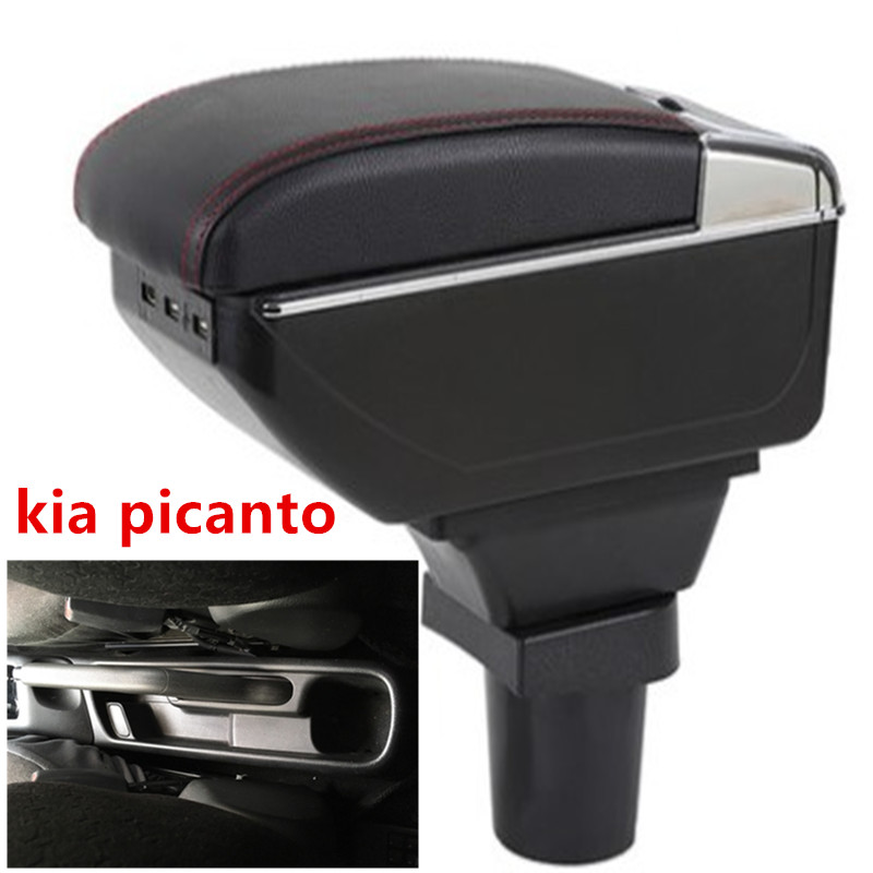 For kia picanto armrest box central Store content Storage box armrest box with cup holder ashtray USB interface(China)