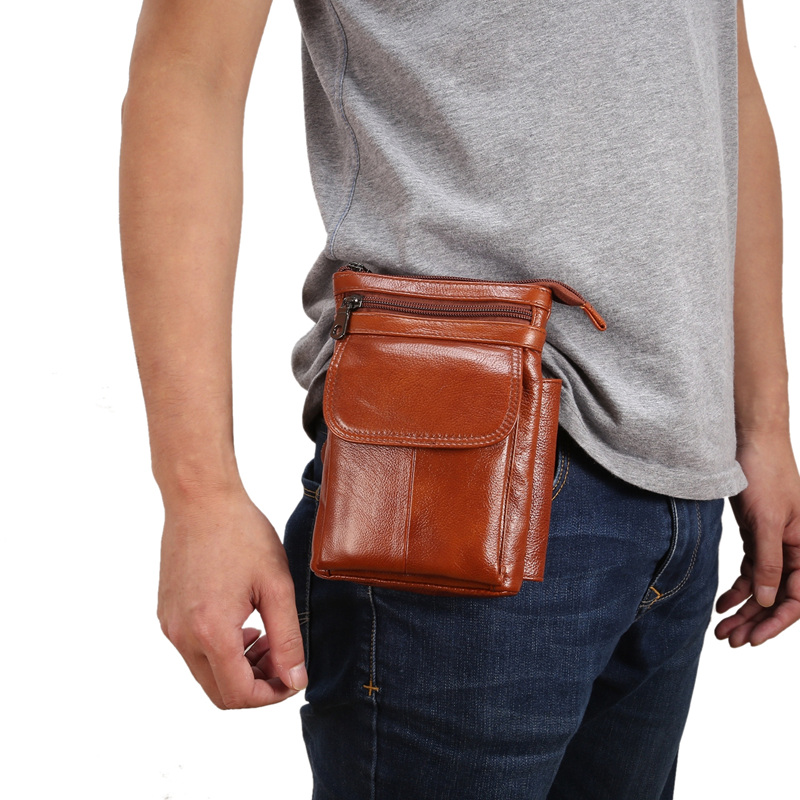Genuine Leather Cell Phone Pouch Bag Shoulder Pocket Wallet Waist Pouch Case For iPhone X 7 8 6 6S PLUS for Xiaomi Mobile Phone