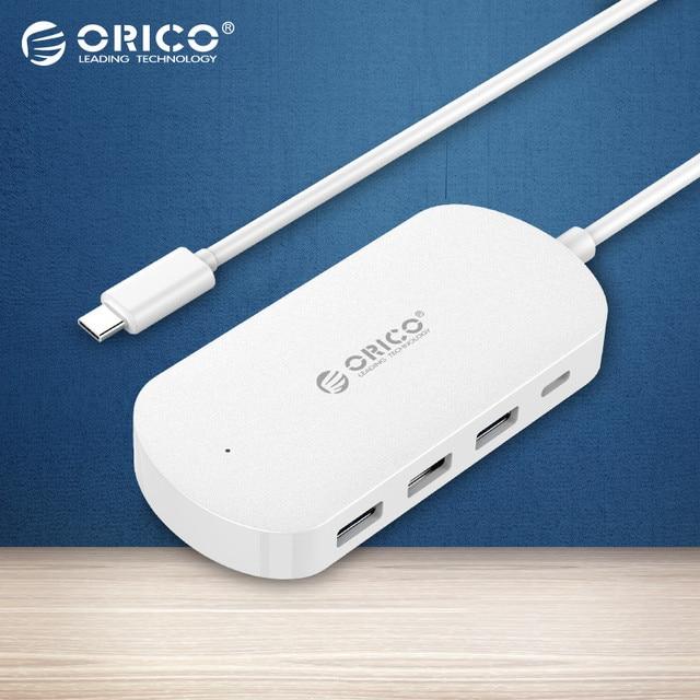 Tipo-c HCD1-BK ORICO 4 Puertos USB3.0 Hub (USB3.0-UN x 3, tipo-c x 1) 30 cm cable de datos para apple macbook extensión hub-negro