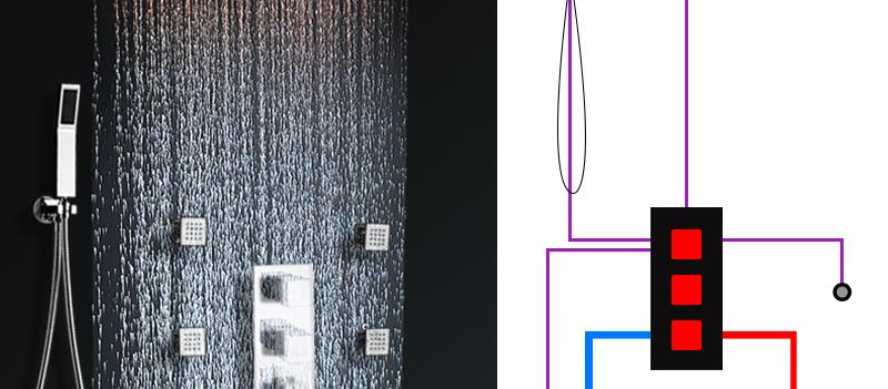 DCAN Bathroom Thermostatic Mixer Valve Brass Chrome Finish Shower Faucet Mixer Valve 3-4 Ways Faucet Bath Faucet Accessories (7)
