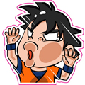 Son Goku Moto Sticker - Son Gohan Dragon Ball Z Stickers Reusable Waterproof Dragonball Fixed Gear Car Sticker Free Shipping S06
