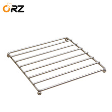 ORZ 24x24cm Stainless Steel Trivet Mat Tableware Placemat Pan Heat Resistant Pad Hot Pot Holder Dinning Table Kitchen Tools