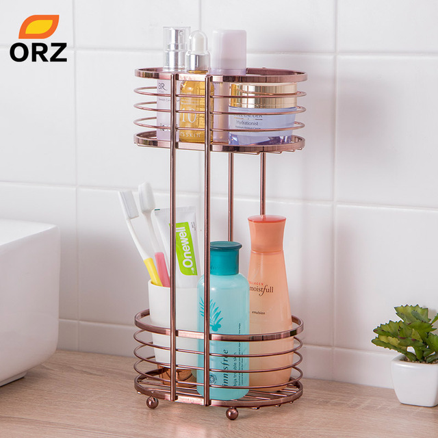 ORZ Bathroom Organizer Shelf Seasoning Storage Spice Rack Kitchen  Countertop Organizer Storage Holder Shelves 2 Tier