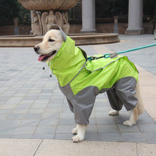 S-7XL Pet Apparel Dog Clothes Raincoat Jacket Reflective Rain Waterproof Coat Plaid Poncho Teddy