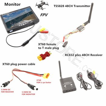 FPV Combo System 5.8Ghz 600mw 5km Transmitter and Receiver for Gopro xiao yi xiao mi SJ4000 SJCAM QAV250 DJI Phantom Quadcopter