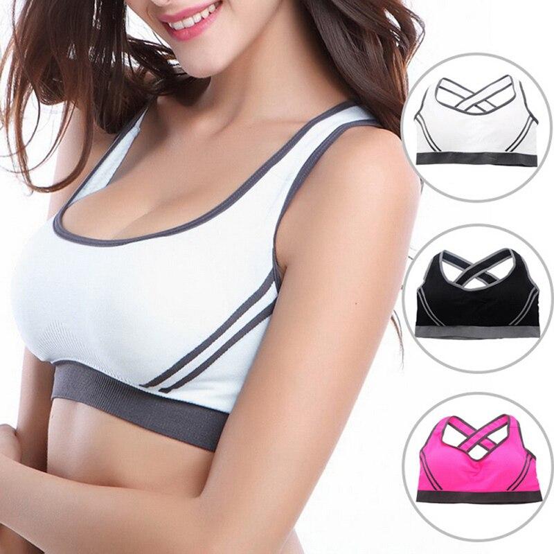 Vertvie Yoga Sport Athletic Bra Underwear Women's Sports Bras Running Gym Breathable Yoga Bra Top Fitness Jogging Bras Female 1