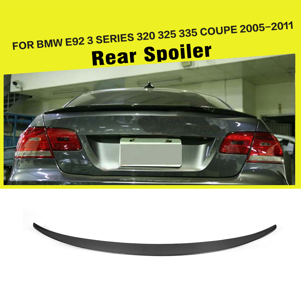 P Car Styling Carbon Fiber Car Rear Spoiler Wing Trunk Lip For BMW E92  Spoiler 3 Series 325 328 335 U0026 M3 Coupe 2005 2011