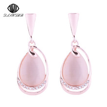 Hot Dangle Earrings for Women Jewelry Fashion Semi Precious Stone Long