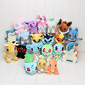 20pcs/set Anime 20 Different style Pikachu Eevee Cyndaquil Squirtle Charmander Plush Character Soft Toy Stuffed Animal Doll New