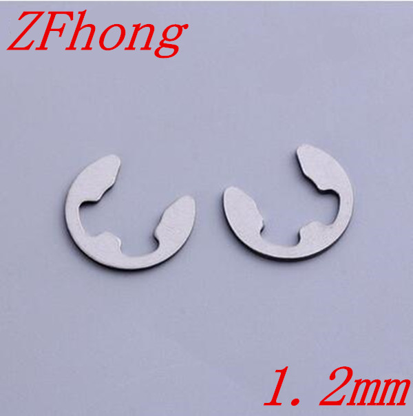 100pcs DIN6799 M1.2 1.2mm Stainless Steel E circlips retaining ring for shafts image