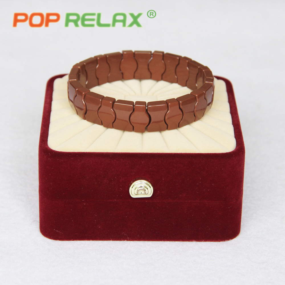 POP RELAX Korea tourmaline germanium ceramic health bracelet negative anion energy powerful ball stone bracelet physical therapy byriver healthcare black tourmaline stone health bracelet germanium negative ion energy hand chain for men women size 57 64mm