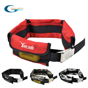 Scuba Adjustable 4/3 Pocket Diving Weight Belt With Stainless Steel Buckle Water Sport Equipment For Underwater Hunting 4 Colors(China)