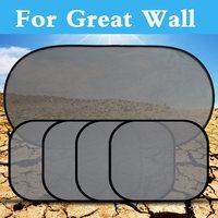 5Pcs Set Black Car Sun Shade Visor Shield Cover Mesh Screen For Great Wall Hover M1