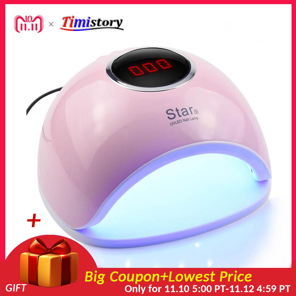 72W UV Lamp For Manicure Led Lamp Nail 33 Pcs Leds Nail Dryer For Curing Nail Polish Nail Tools With Infrared Sensing 3 Color