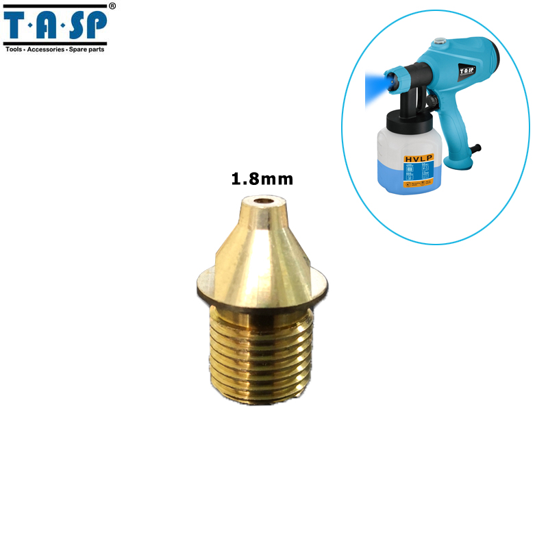 TASP 1.8mm Spray Gun Brass Nozzle Paint Sprayer Spare Parts For MESG400M