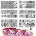 Tracy Simple Impresión de Diseños de Uñas De Moda Caliente Estampación Placas de Uñas de Arte Belleza Imagen Plantillas Plantillas Polacos XY-J01-16