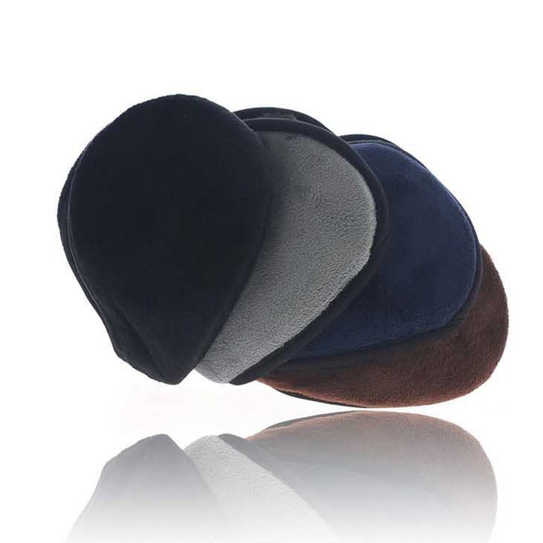 Comfortable Men Women Unisex Soft Comfortable Fleece Wrap Around Headwear Autumn Winter Ear Warmers Earmuffs
