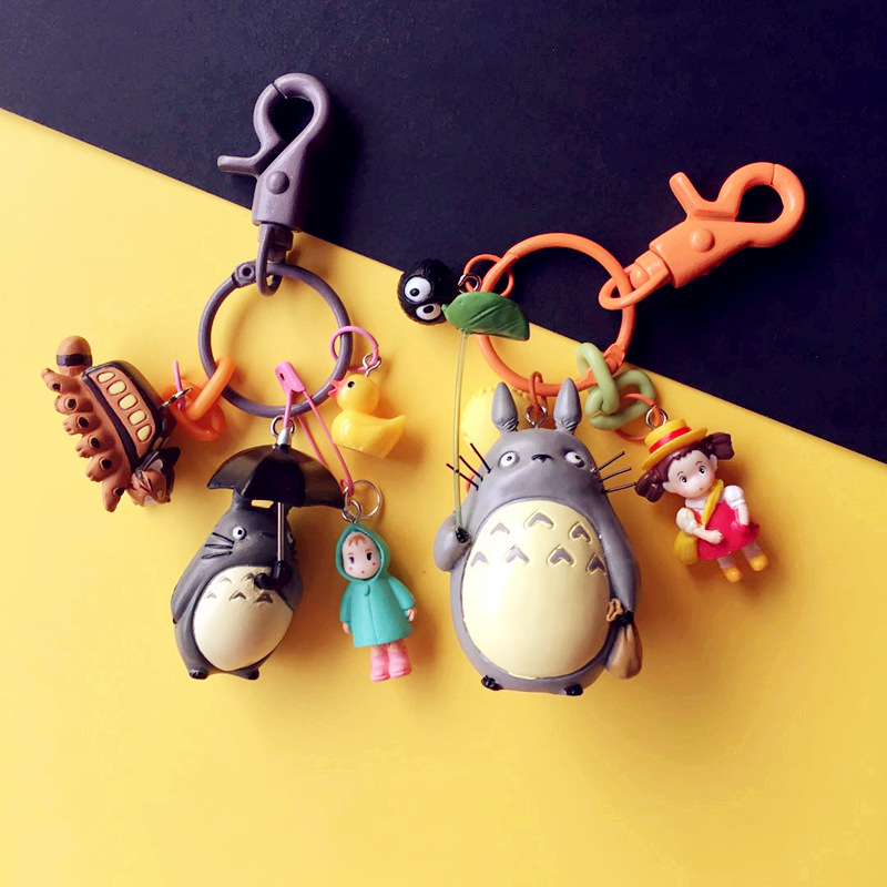2019 Cute My Neighbor Totoro Keychain Chinchilla Keyrings Pendant Fit Bag Charms Purse Accessory For Miyazaki Hayao Comic Fans