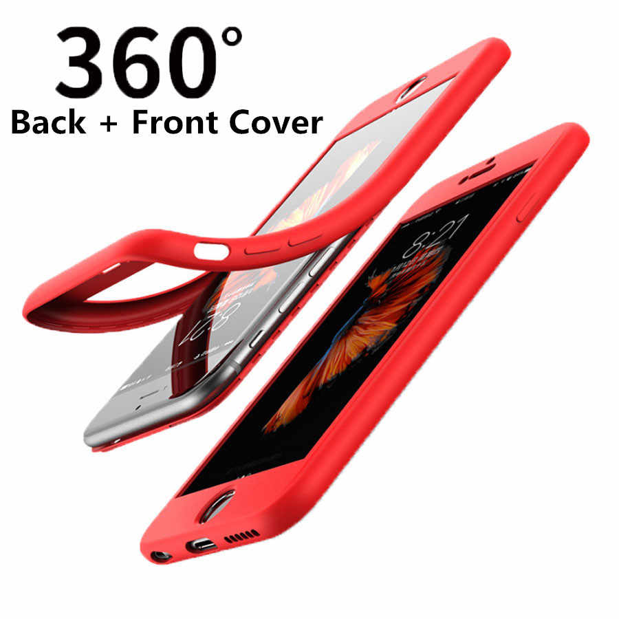 360 Case For iPhone 7 Plus 6s 6 8 X XR XS MAX Huawei P30 Pro P20 Mate 20 Cover Silicone Full Cover For Honor 10 8A 8X 9 Lite
