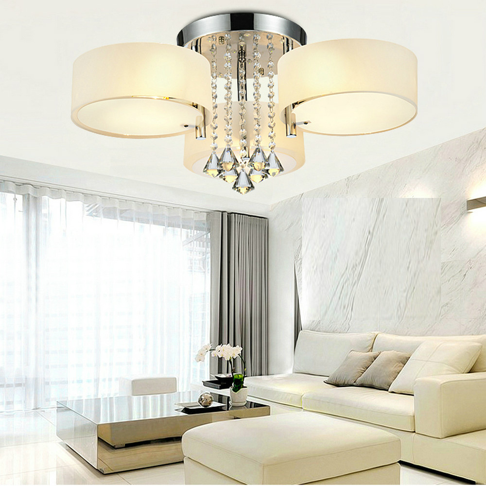modern bedroom ceiling lights mamei mamei free shipping flush mounted 3 light chrome 16229