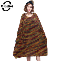 Oladivi Oversized Plus Size Women Apparel Casual Lady Top Tunic Fashion Free Style Female Loose Knitted