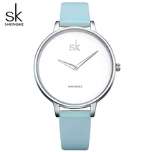 SK Brand Women Simple Quartz Watch Women's 3 Colour Fashion Leather Bracelet Wristwatches Female Clock Relojes mujer