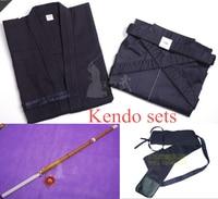 Бесплатная доставка Высокое качество Кендо комплекты (kendogi + Хакама + нож + сумка) по индивидуальному заказу